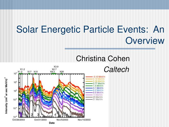 solar energetic particle events an overview n.