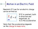 motion in an electric field1