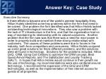 answer key case study