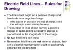 electric field lines rules for drawing