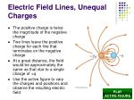 electric field lines unequal charges
