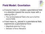 field model gravitation