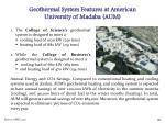 geothermal system features at american university of madaba aum