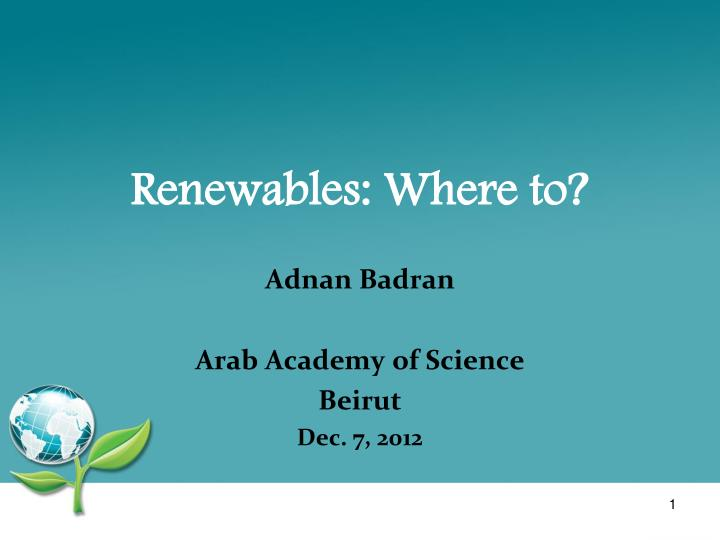 renewables where to n.