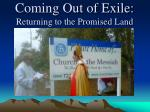 coming out of exile returning to the promised land3