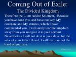 coming out of exile the divided kingdom1