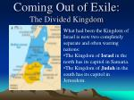 coming out of exile the divided kingdom3
