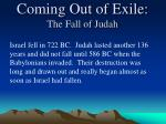coming out of exile the fall of judah