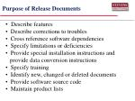 purpose of release documents