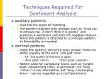 techniques required for sentiment analysis2
