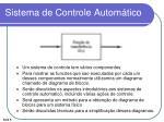 sistema de controle autom tico
