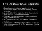 five stages of drug regulation