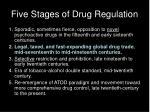 five stages of drug regulation1