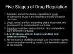five stages of drug regulation3