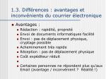 1 3 diff rences avantages et inconv nients du courrier lectronique