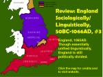 review england sociologically linguistically 50bc 1066ad 3