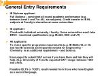 general entry requirements