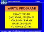 yariyil programi