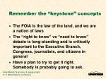 remember the keystone concepts