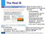 the real ie