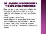 die lewensiklus perspektief the life cycle perspective3