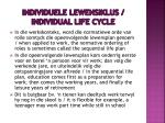 individuele lewensiklus individual life cycle2