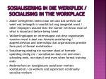 sosialisering in die werkplek socialising in the workplace1