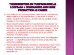 tuisteskeppers en tuisproduksie as loopbaan homemakers and home production as career