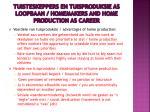 tuisteskeppers en tuisproduksie as loopbaan homemakers and home production as career1