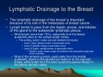 lymphatic drainage to the breast