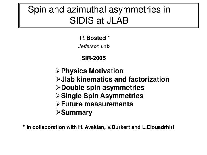 spin and azimuthal asymmetries in sidis at jlab n.