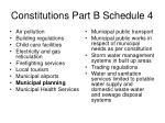 constitutions part b schedule 4
