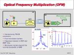optical frequency multiplication ofm