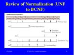 review of normalization unf to bcnf2