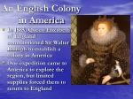 an english colony in america