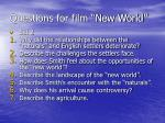 questions for film new world1
