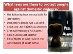 what laws are there to protect people against domestic violence