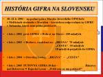 hist ria gifra na slovensku