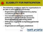 eligibility for participation