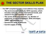the sector skills plan