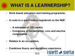 what is a learnership