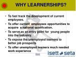 why learnerships