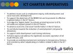 ict charter imperatives