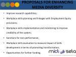 proposals for enhancing media diversity
