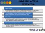 universal access new media