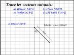 trace les vecteurs suivants a 400m s 2 s45 o o b 27m s n60 o o c 100km n15 o e d 155 km h s 80 o e