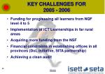 key challenges for 2005 2006
