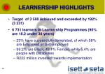 learnership highlights