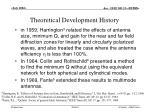 theoretical development history1