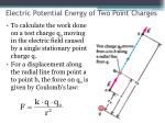 electric potential energy of two point charges